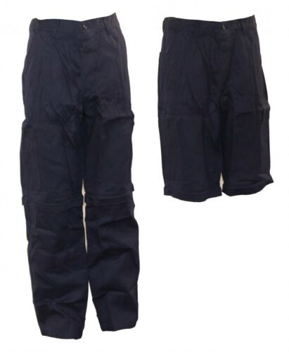 Original pantalon berufshose courte u long pantalon abzippbar bleu foncé