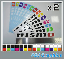 2 x Nissan NISMO Vinyl Car Stickers/Decals Skyline GTR Juke 350Z 370Z Sunny GTIR