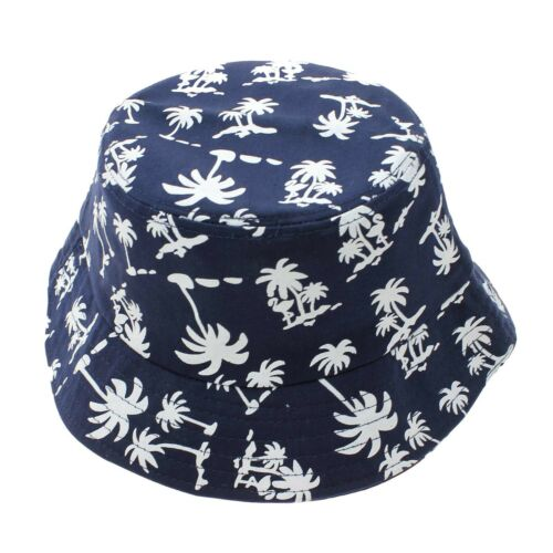 Portable Coconut Tree Printed Unisex Bucket Cap Outdoor Fishing Summer Sun Hat