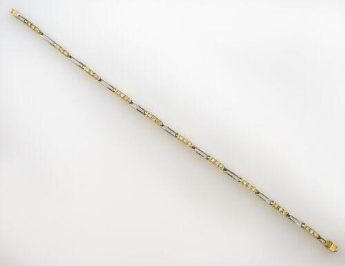Armband 18 cm 750 18 K Weißgold/Gelbgold 30 Diamanten zus. 0,30 ct