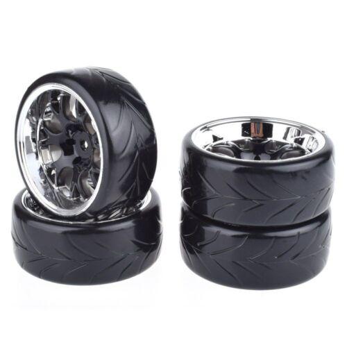 4PCS 1:10 Drift Car Rc Tires Tyre Wheel Diameter61mm For Traxxas HSP Tamiya HPI
