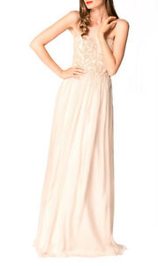 George-Elise-Gown-Nude-Sequin-Chiffon-Gown-Size-10-RRP-485