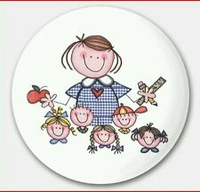 Chapas Pin Maestra Profesora Ansteck Button Pin  Bouton épinglette Lapel Pi