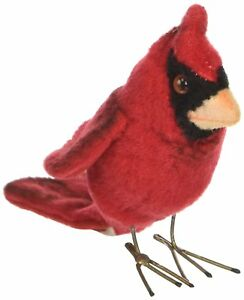 Hansa 3 5 Red Cardinal Bird Plush Stuffed Animal Toy Ebay