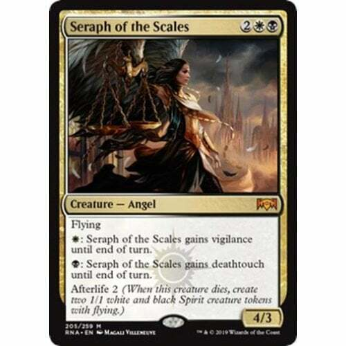 4x Seraph of the Scales Near Mint Magic mythic angel cube Ravnica Allegiance RNA