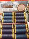 Gutermann Jeans Sewing Thread Stonewash PolyCotton Dark Blue Denim 100 M Reel