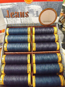 Gutermann-Jeans-Sewing-Thread-Stonewash-PolyCotton-Dark-Med-Blue-Denim-100M-Reel