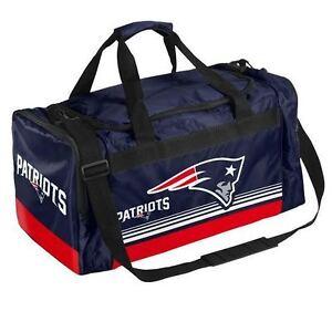 Image Is Loading New England Patriots Medium Striped Duffle Bag Core