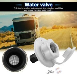 RV-CITY-WATER-FILL-Inlet-Flange-with-Non-Return-Check-Valve-Trailer-Marine-Tool
