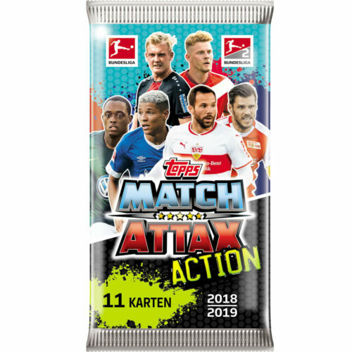Topps Match Attax 18//19 Action trading cards Display Booster Choisir Starter