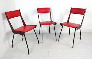 SET-3-SEDIA-RB-ROSSANA-DESIGN-EPOCA-1950-ITALIAN-VINTAGE-DINING-CHAIR-ARMCHAIR