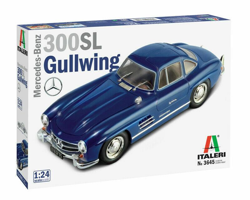 Italeri 3645 Mercedes Benz 300Sl Gullwing Plástico Kit Modelo 1 24 Nuevo