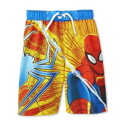 NWT MARVEL THE AMAZING SPIDERMAN 50 UPF SWIM TRUNKS SHORTS BOYS 24 MONTHS OR 3T