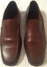TOD'S BROWN ITALIAN LEATHER DRIVING LOAFERS MENS SZ 12 NICE!! MADE IN ITALY!