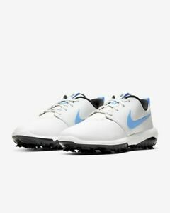 Nike-Roshe-G-Tour-Golfschuhe-UK-8-5-amp-9-5-weiss-blau-ar5580-105