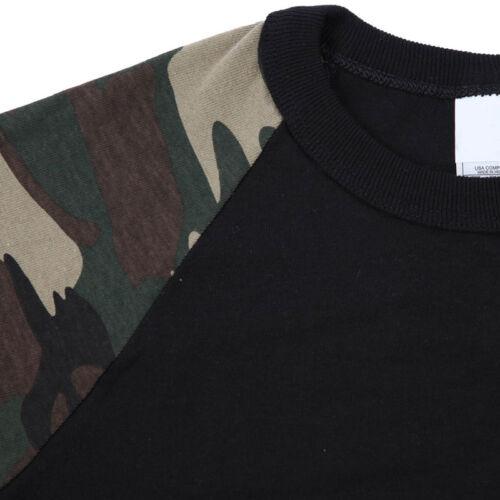 Kid/'s Raglan 3//4 Sleeve Baseball T Shirt Top Casual Cute Cotton XXS-XL