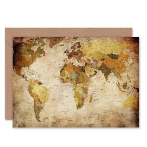 World-Map-Vintage-Cartography-Blank-Greeting-Card-With-Envelope