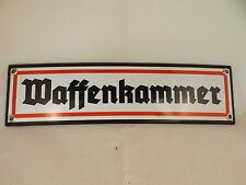 """Wehrmacht  Emailleschild """"Waffenkammer"""" MG42 STGW 44 Kaserne Karabiner 98k P08"""