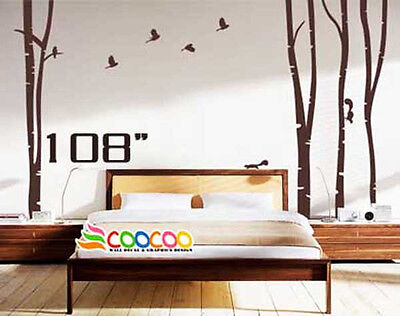 Wall Decor Decal Sticker Large Birch Tree Trunk Forest 4