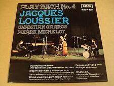 LP / JACQUES LOUSSIER PLAY BACH N°4
