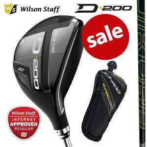 Wilson-Staff-D200-Superlight-Men-039-s-Golf-Hybrid-Woods-NEW-2020-Inc-H-Cover