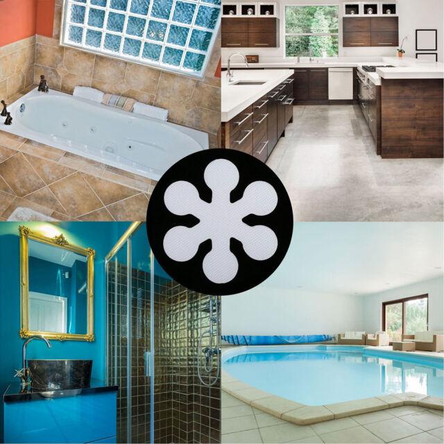12PCS Anti-Slip Bathtub Stickers Self-adhesive Shower Decals Safe Appliques