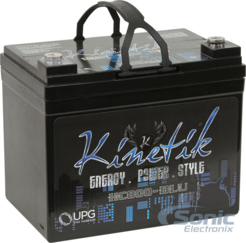 KINETIK 800 Watt HC820 High Current AGM Car Audio Power Cell//BatteryHC800-BLU