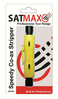 Speedy Coax Coaxial Cable Cutter Stripper Tool for RG6 RG59 RG7 RG11 Cat5/6