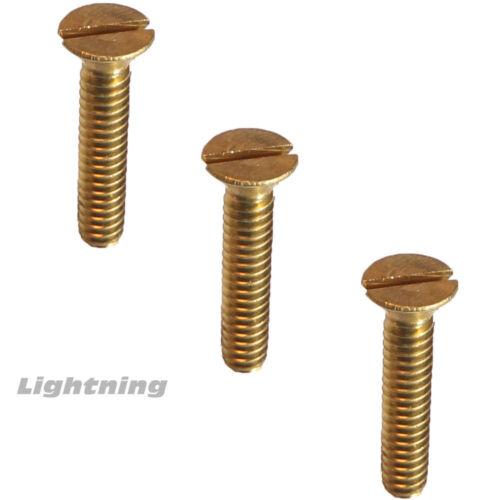 "10-32 x 5//8/"" Solid Brass Machine Screws Flat Head Slotted Quantity 50"