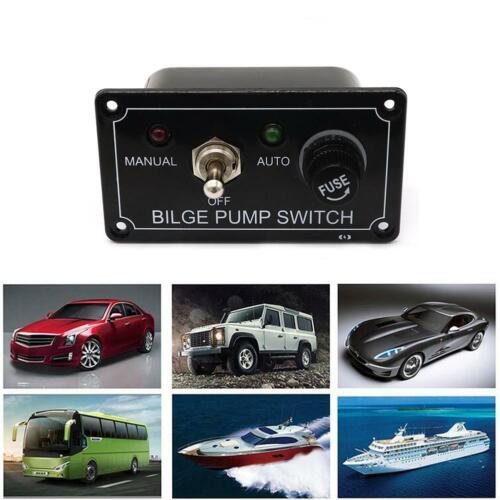3 Way DC 12V Fused Marine Bilge Pump Switch Panel with LED Indicator Light Tools