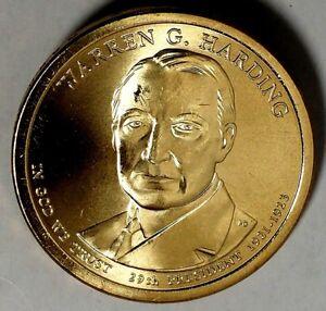 2014 D Warren G Harding Presidential Dollar Coin Uncirculated Denver BU