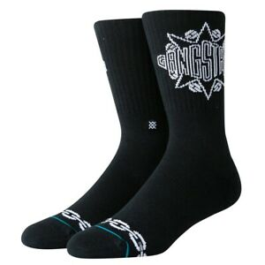 Haltung-Neu-Herren-Gangstarr-Socken-Schwarz-BNWT