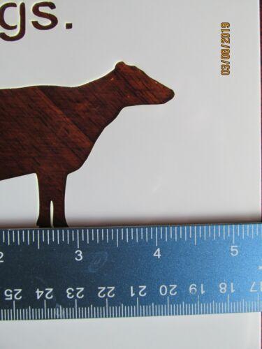 Hen Stencil Reusable 10 mil Mylar Stencil Cow Pig