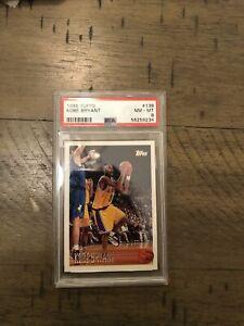 1996 -9 Topps Kobe Bryant ROOKIE RC #138 PSA 8 NM-MT Fresh Grade