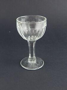 ANTICO BICCHIERE CALICE GOBLET VETRO SOFFIATO ART DECO ART GLASS COLLEZONE