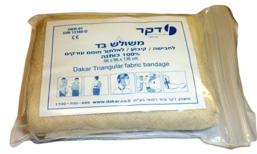 Israeli Triangular Dressing Bandage Medic Trauma Emergency IFAK EMT Compression