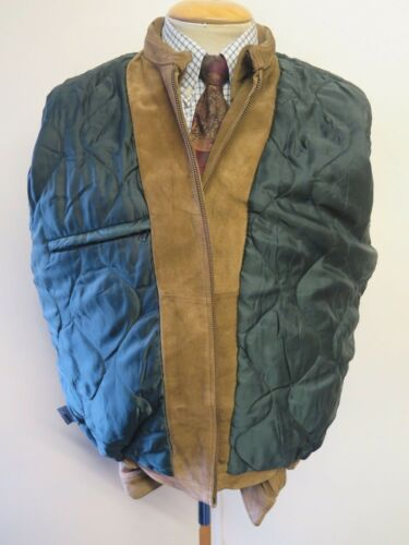Jacket Harrington vintage in M M scamosciata 38 zip pelle Harrington Nautica Zipped Nautica 38 Vintage Giubbotto con Suede IZqw6Ax