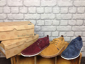 MR-JIVES-MENS-SUEDE-CASUAL-LACE-UP-SHOES-TAN-BURGUNDY-NAVY-UK-8-9-10-AND-11