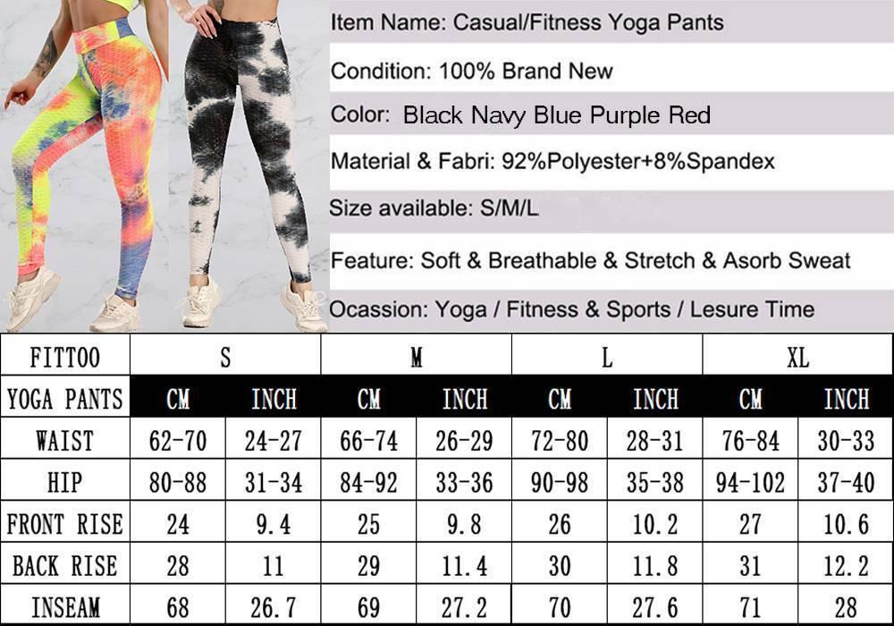 Womens Yoga Pants Gym Anti-Cellulite Butt Lift Leggings Fitness Scrunch Trousers