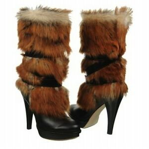 UGG Australia Foxley Boots Black Fur Leather All Sizes ...