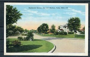 Ansichtskarte-Residential-Section-21st-and-Madison-Tulsa-Okla-01251