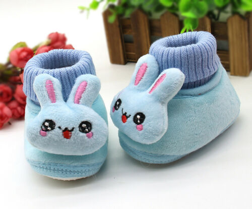Newborn Baby Boy Girl Toddler Rabbit Boots Soft Sole Shoes Prewalker Warm G1