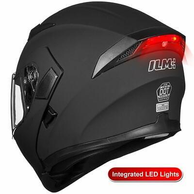 ILM DOT Motorcycle Helmet Dual Visor Modular Flip up Full Face Moto Helmet Gifts