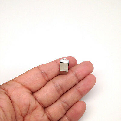19.5 cts Pyrite Cap Cube Pendant Sterling Silver Handmade from Brazil, P297A