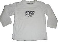 Mexx tolles Langarm Shirt Gr. 86 weiß mit blauem Schriftzugdruck !!