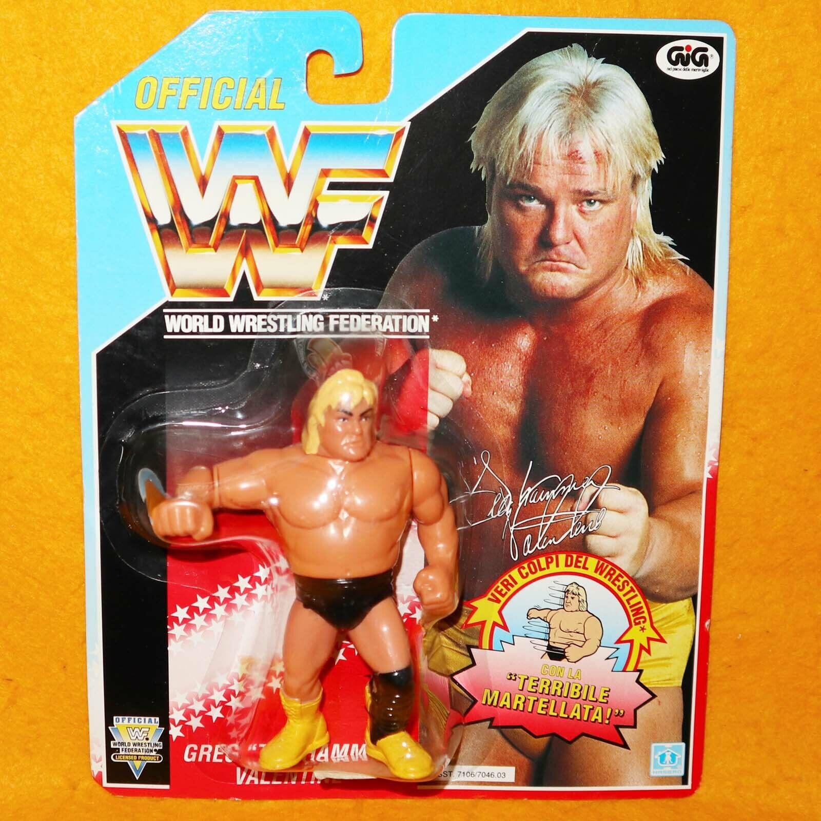 VINTAGE 1992 HASBRO GIG WWF WRESTLING SERIES 3 GREG  THE HAMMER  VALENTINE MOC