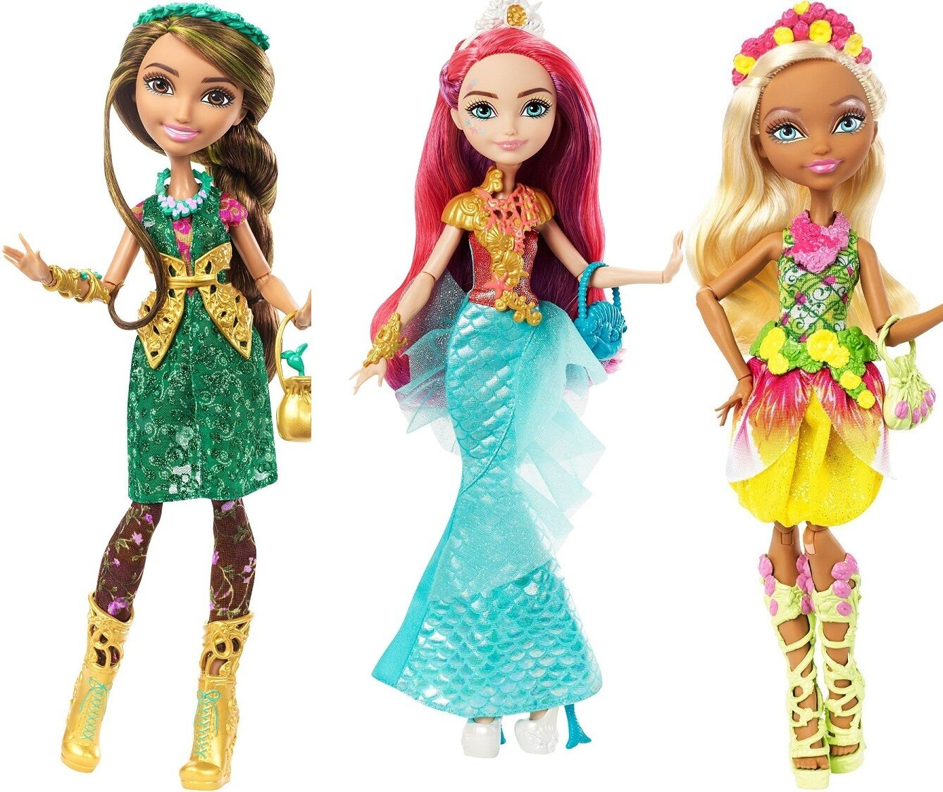 Ever After High Jillian Beanstalk meeshell Sirena & Nina Pulgarcita muñecas-nuevo