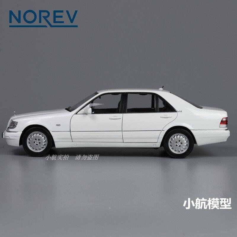 Norev 1,18 - benz s210 druckguss - modell weißen fahrzeug