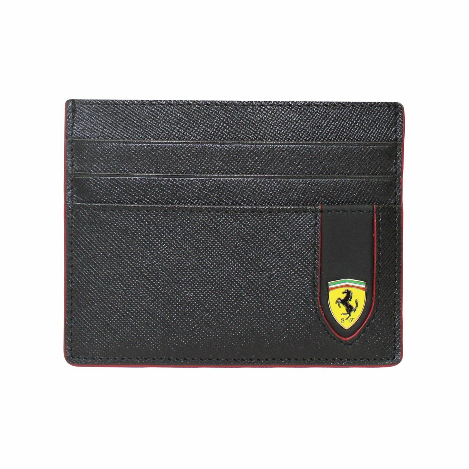 Evo Saffiano Leather Credit Card Holder