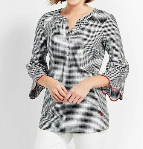 Talbot's Oprah Collection Gingham Bell Sleeve Top
